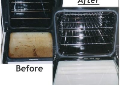 oven clean - before and after
